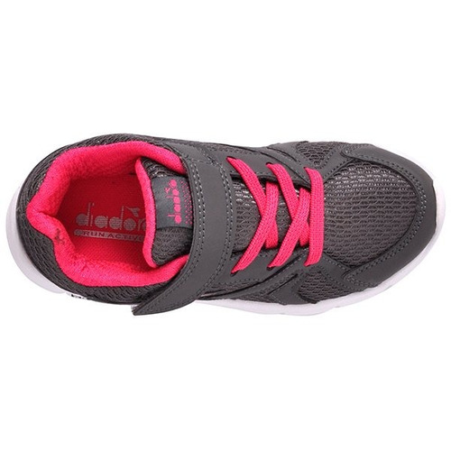 1e48f43d428 Tênis Infantil Diadora Park 126102 Grafite rosa Pink - R  139