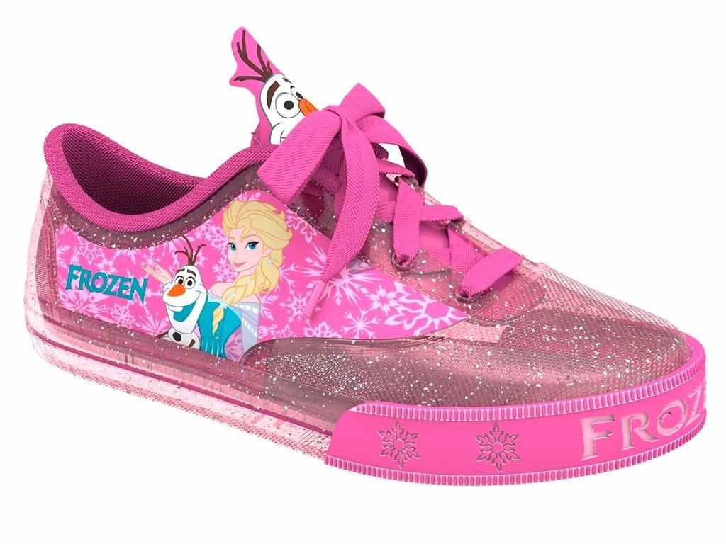c8cc371fa Tênis Infantil Disney Frozen Encantada Glitter rosa