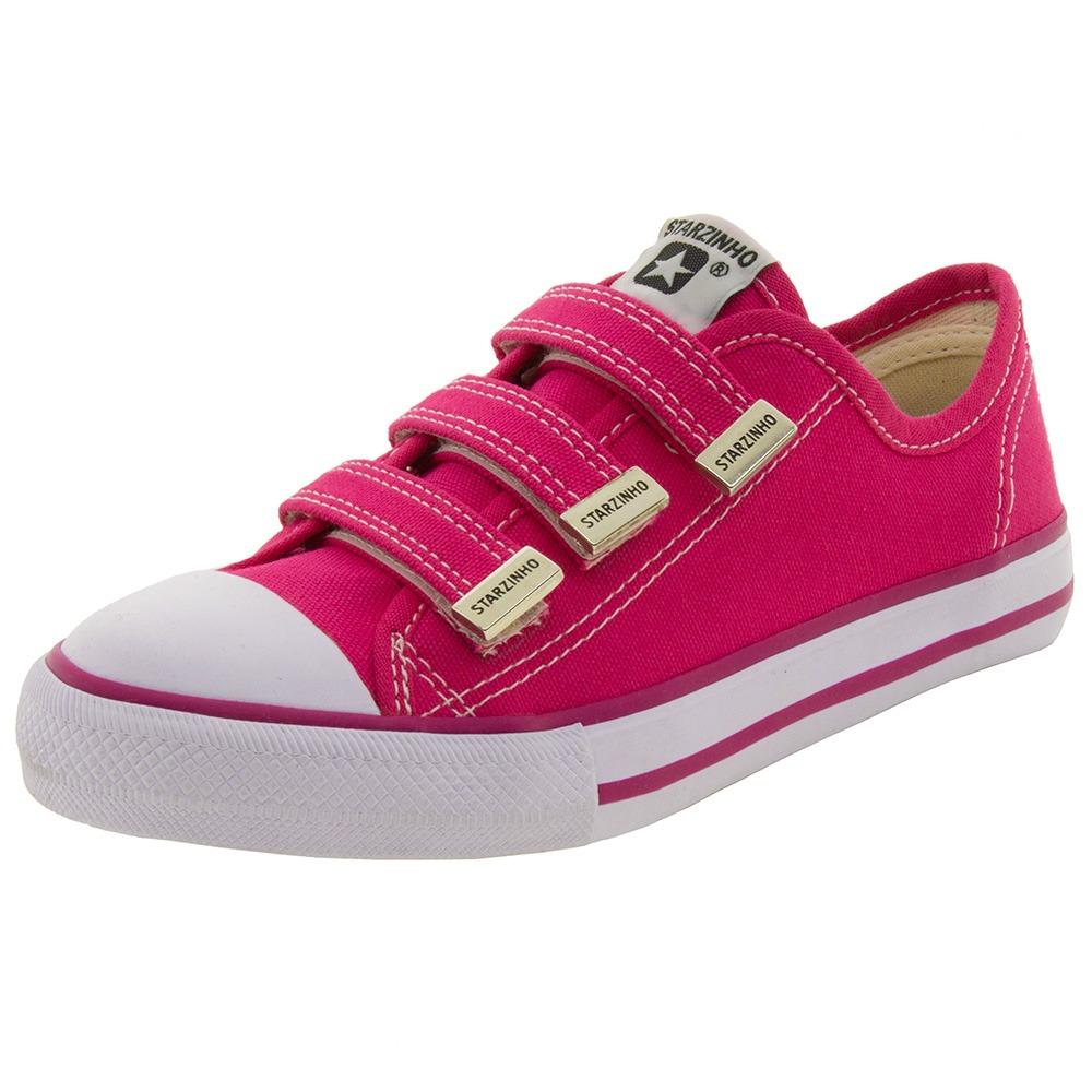 455a72afb68 tênis infantil feminino com velcro pink starzinho - 30550071. Carregando  zoom.