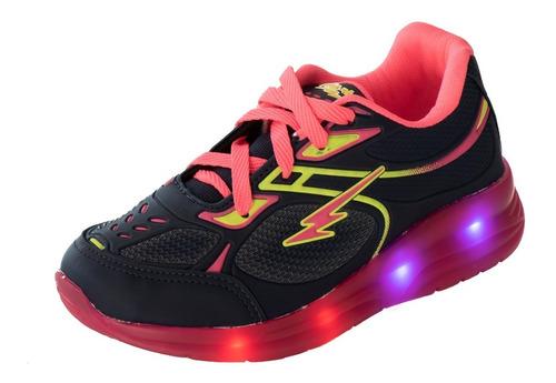 tênis infantil feminino de rodinha e com luzes de led  as108