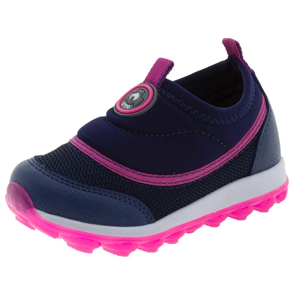 87c4635d6a5 tênis infantil feminino marinho botinho - 631. Carregando zoom.