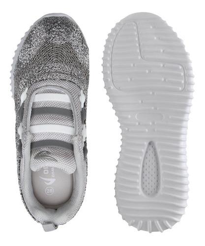 tênis infantil feminino ortopé estica e puxa glitter