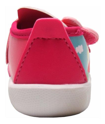 tênis infantil feminino peppa e george happy rosa 21285