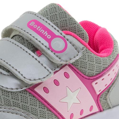 544821d7071 Tênis Infantil Feminino Prata Botinho - 783 - R  39