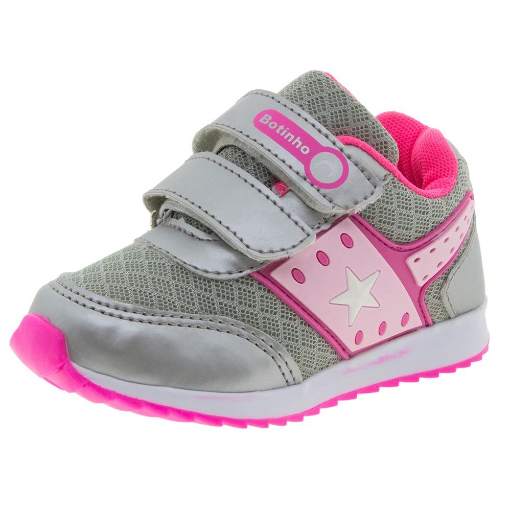 feca9715246 tênis infantil feminino prata botinho - 783. Carregando zoom.