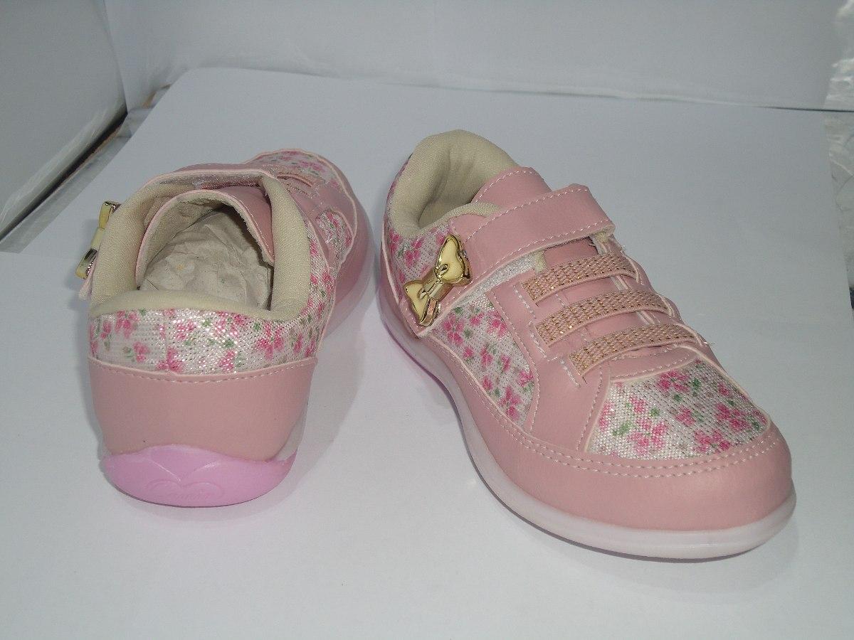 7f1fd5af08e tênis infantil feminino rosa floral velcro e lacinho - 358. Carregando zoom.
