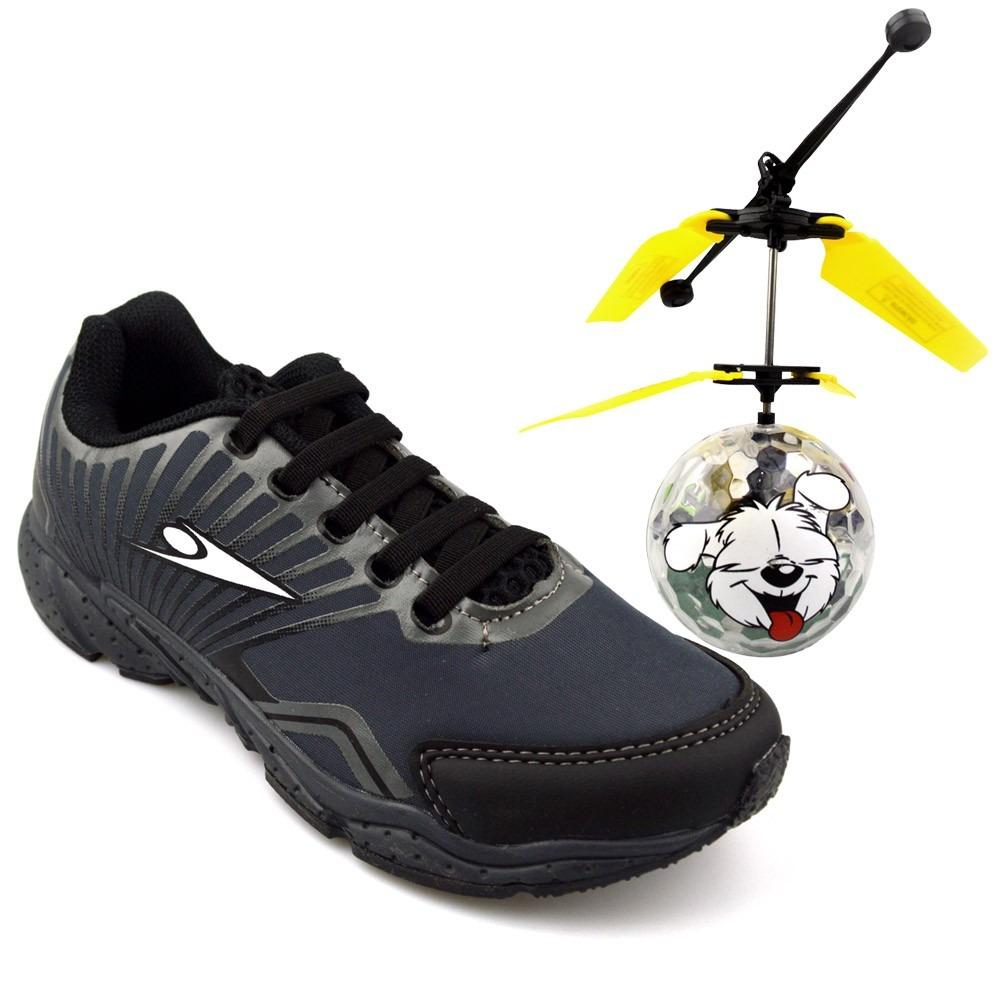 11b327f08 Tênis Infantil Klin Drone Mania Cinza - R  122