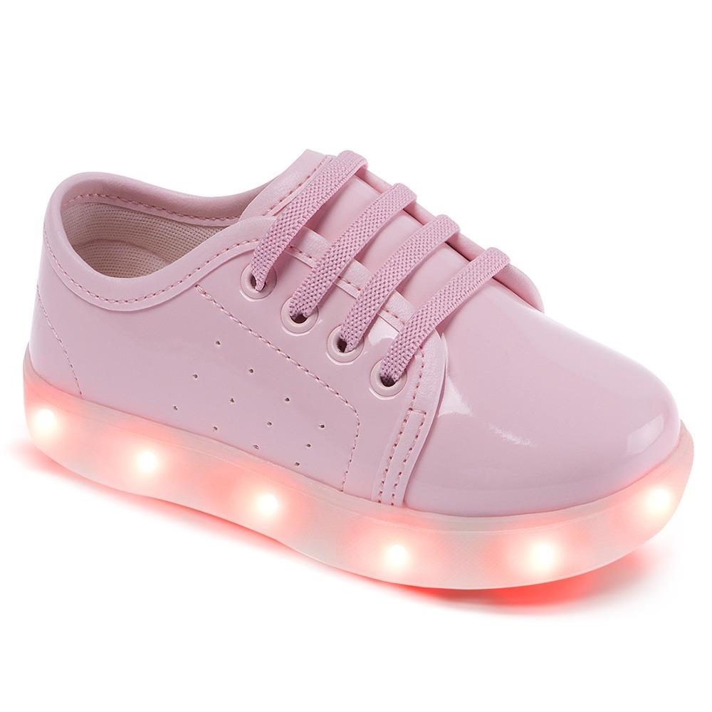 6ad10e963f3 tênis infantil luz led pimpolho rosa menina tamanho 24. Carregando zoom.