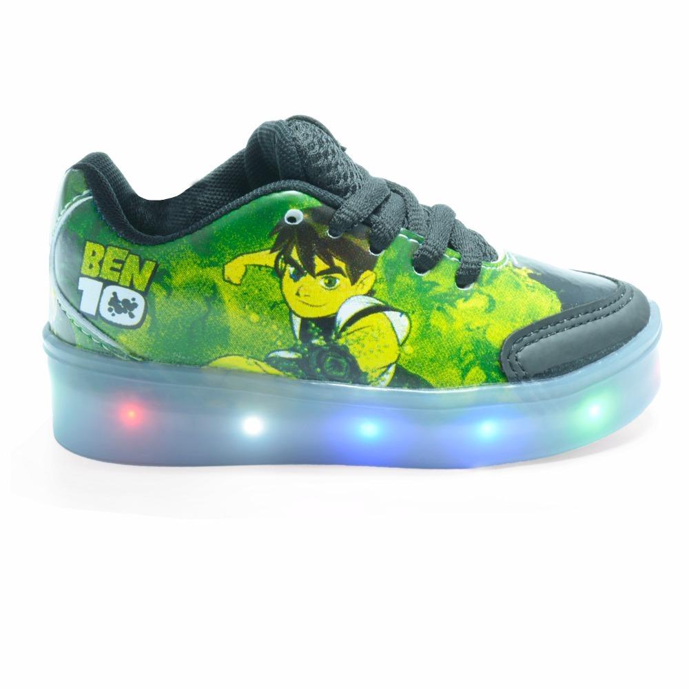 b2585d3493 tênis infantil masculino ben 10 com luz de led colorida kids. Carregando  zoom.