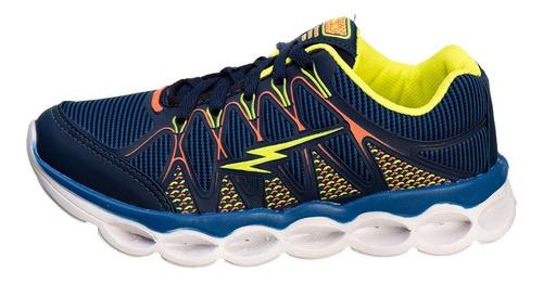 tênis infantil masculino com luzes led cores promoção as014