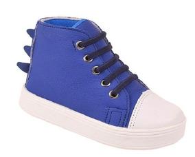 87ff72cc3b6c8c Tênis Infantil Masculino Pesh Azul Cano Alto Dino Azul