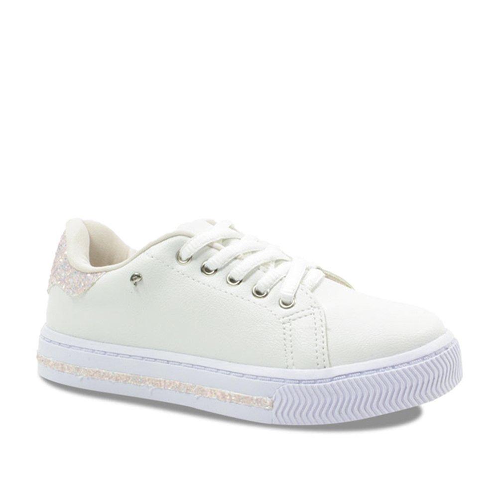 c71aae7b1 tênis infantil menina pampili branco com glitter 473003. Carregando zoom.