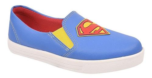 tênis infantil menino super heróis superman ref 16200