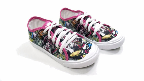 tênis infantil monster high estampado pink yuupiii