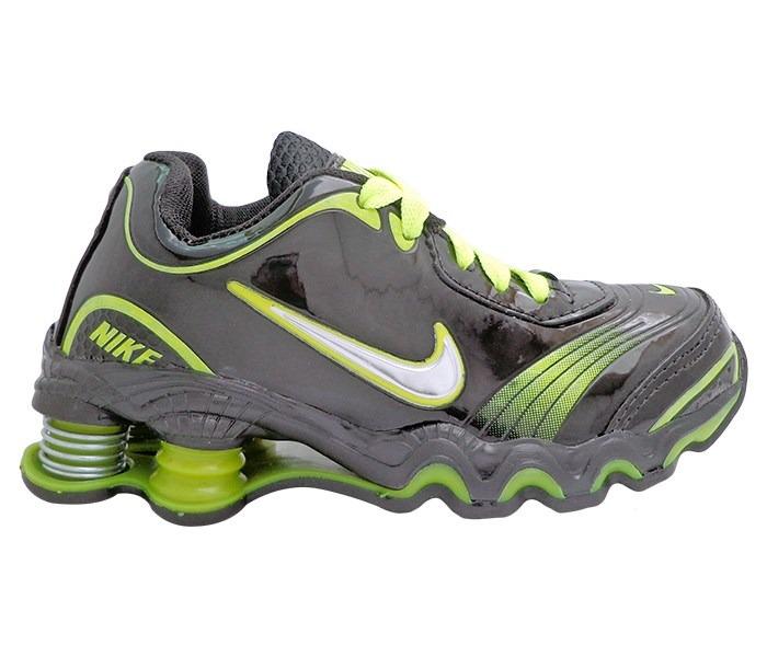 5ee42e73f8a336 canada tênis infantil nike shox turbo preto e verde limo 65967 d06bb