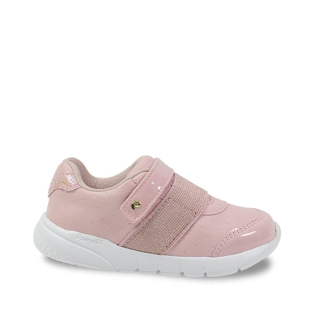 2dd7def7a tênis infantil pampili menina rosa com lantejoulas 445008. Carregando zoom.