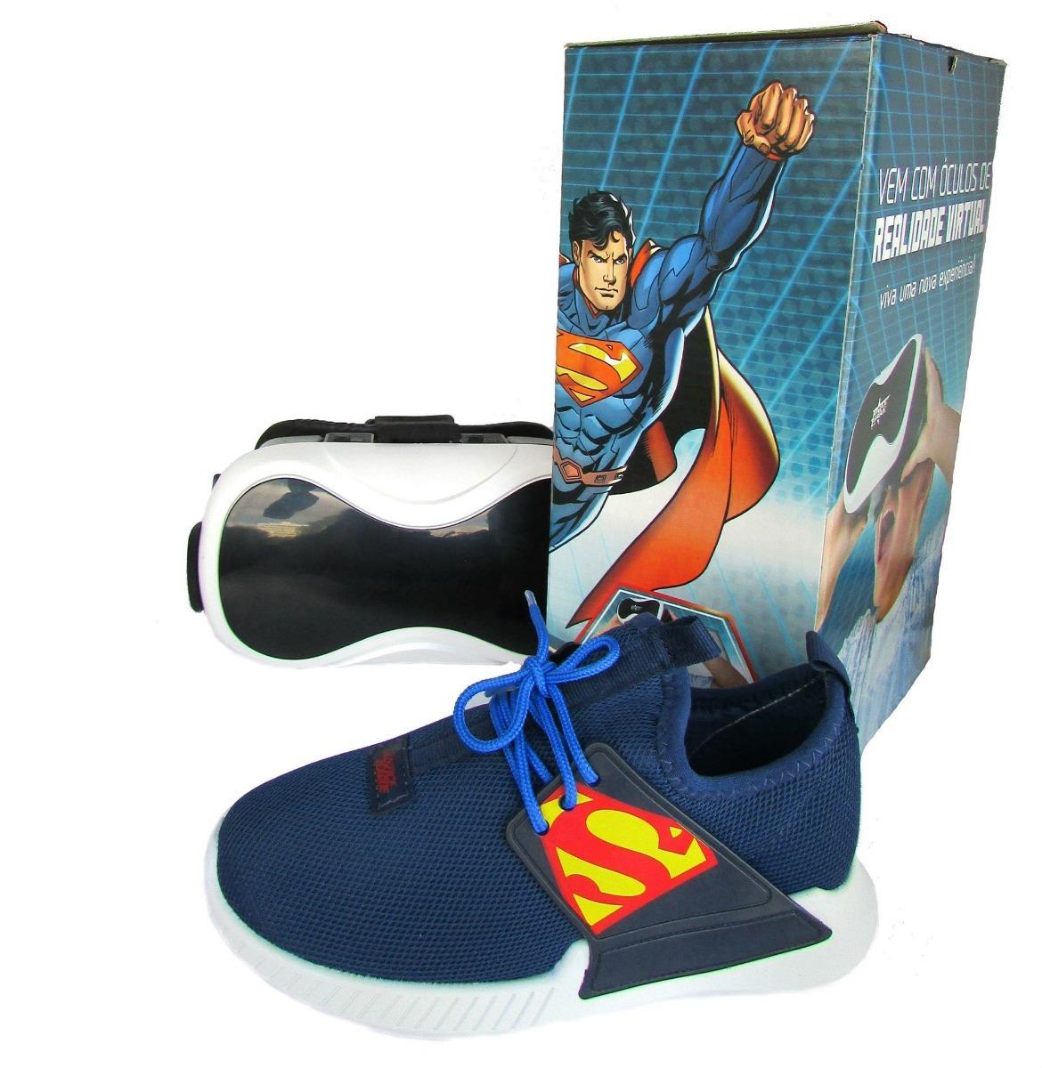 15bb0969d91 tênis infantil superman liga justiça herói realidade virtual. Carregando  zoom.