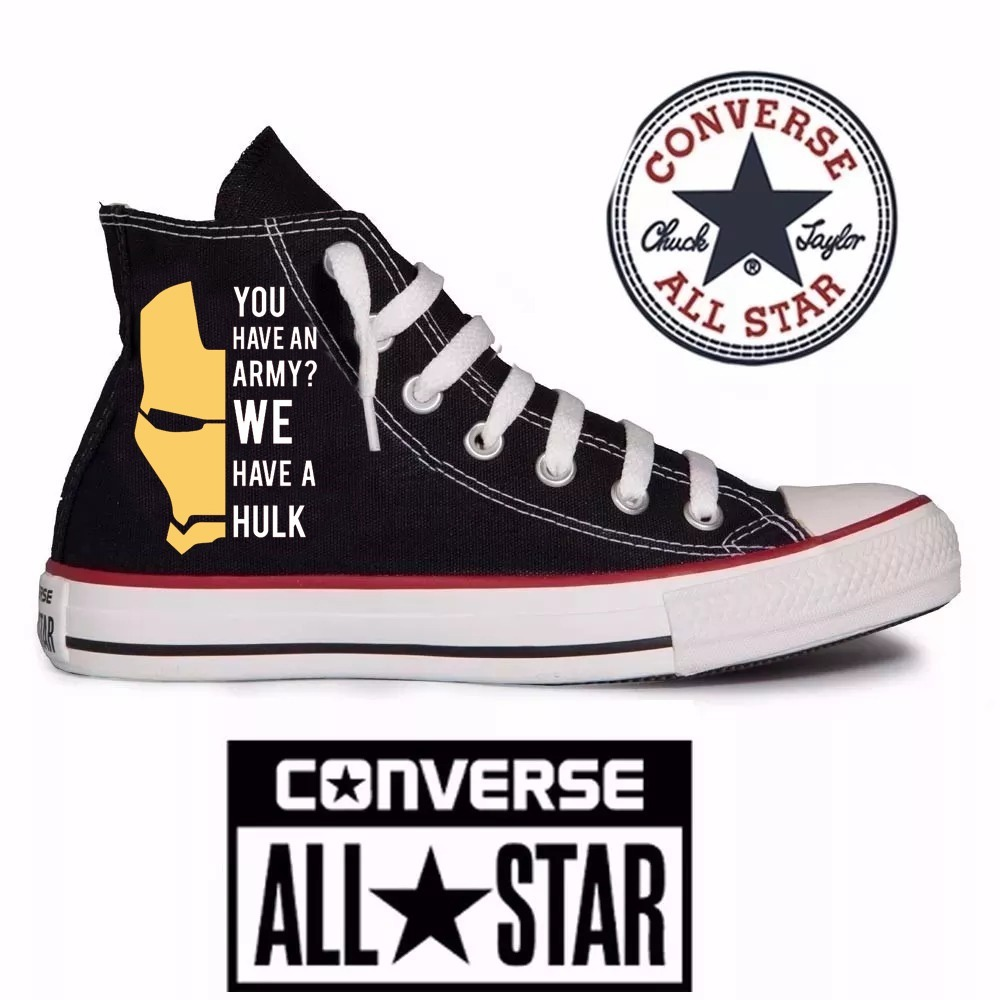 Iron Customizado Tênis Converse All Star Man TF15Kclu3J