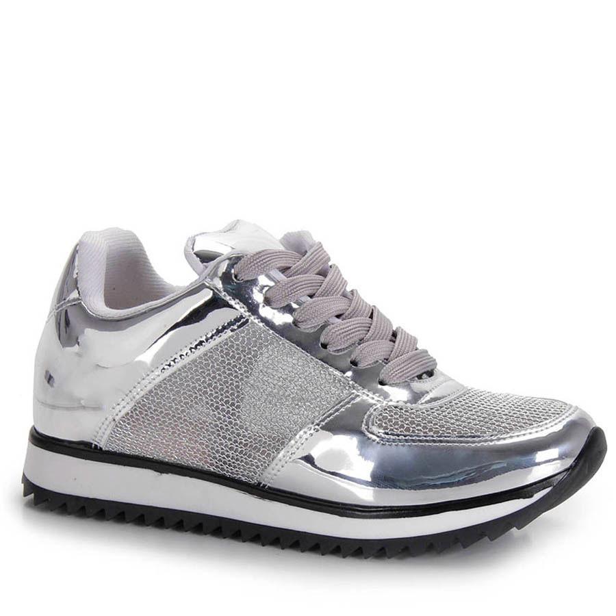 a962e482f3 tênis jogging feminino vizzano - prata. Carregando zoom.