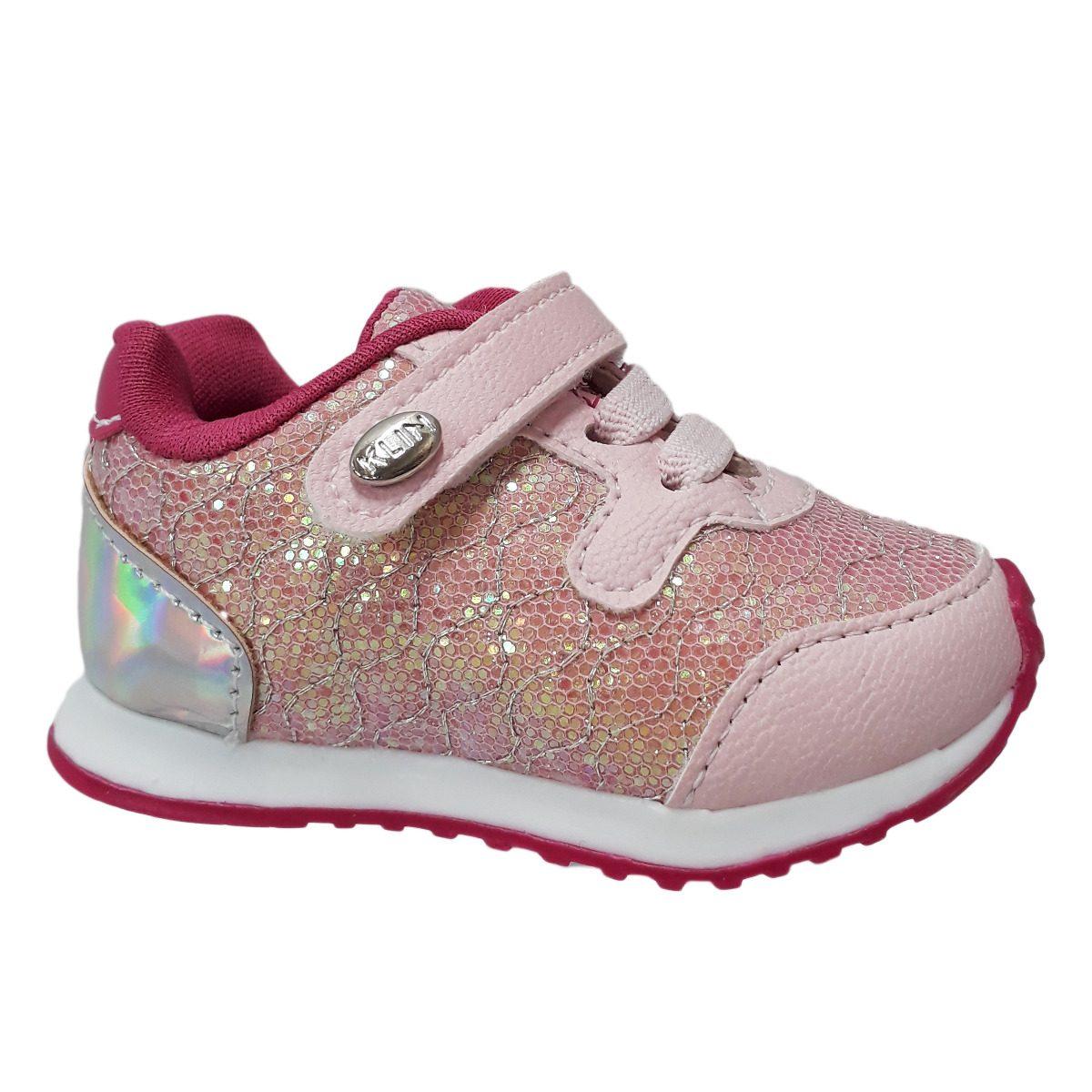b01ec587887 Tênis Klin Menina Infantil Mini Walk Rosa Pink 453.010 - R  84
