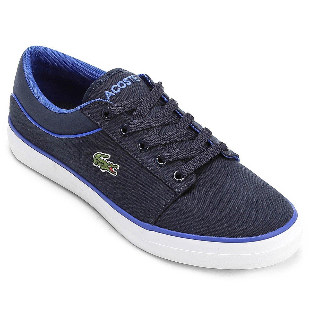 30a7e7d1bb1 tênis lacoste 32spm2389 masculino azul branco original. Carregando zoom.