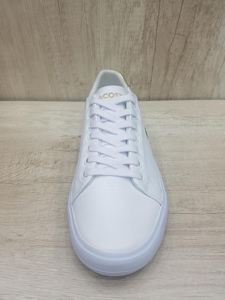 7e8882b7b70 tênis lacoste branco com dourado - couro - lançamento - top! Carregando  zoom.