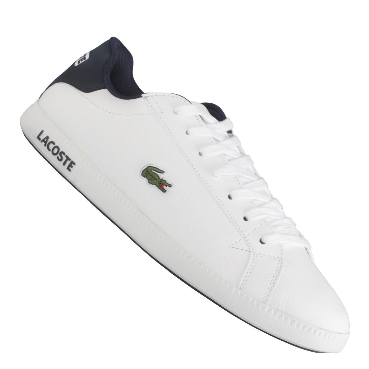 tênis lacoste branco graduate lcr3 spm original masculino. Carregando zoom. b50ba6a7ee