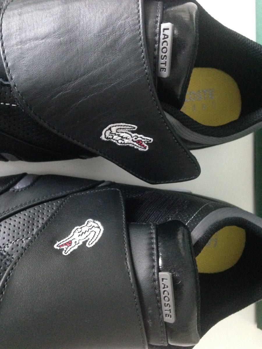 tênis lacoste couro preto 41 original novo!!! na caixa. Carregando zoom. 405f419b19