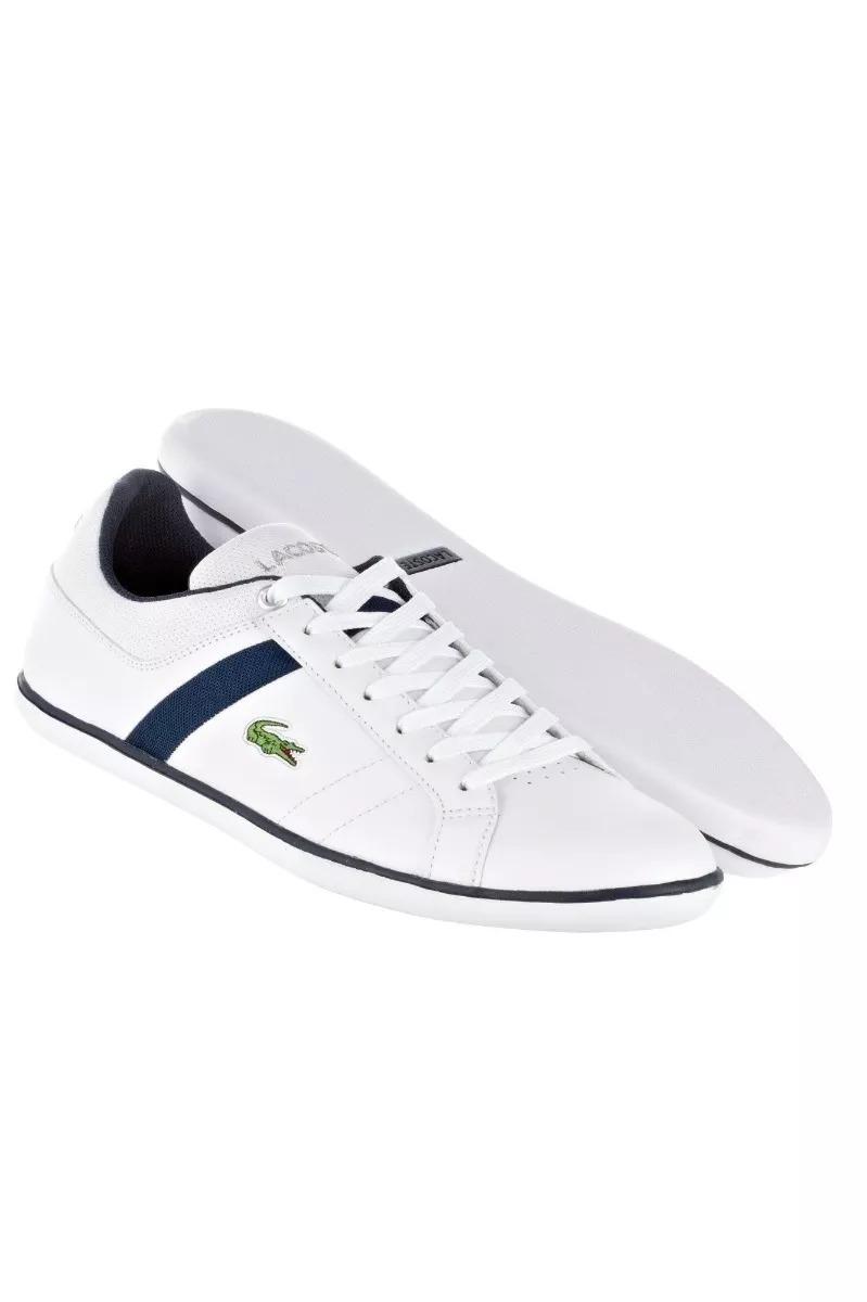 e5c692364026c tênis lacoste evershot couro branco azul escuro tamanho 44. Carregando zoom.