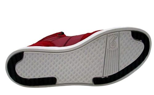 tênis land feet vermelho cano alto - tipo supra - botinha