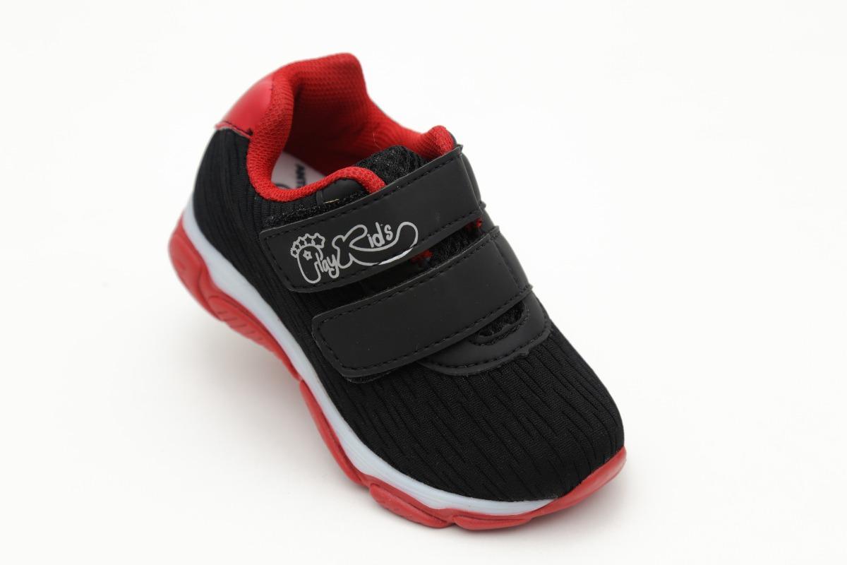 4e31ae5b079 tênis led preto infantil masculino menino luzinha vermelho. Carregando zoom.