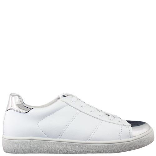 a2bbe0dc4 Tênis Lisbella Branco Bico Prata - R$ 139,90 em Mercado Livre