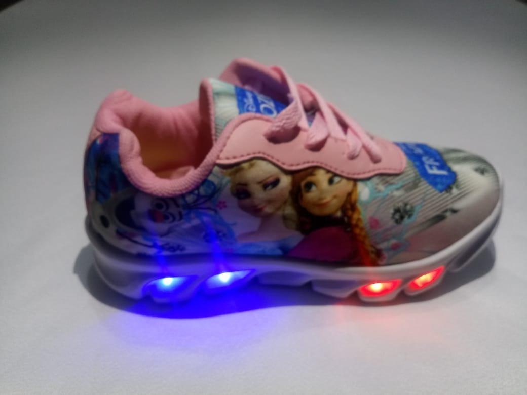 31482c4ff47 tênis luz led frozen infantil feminino promoção com luzinha. Carregando  zoom.