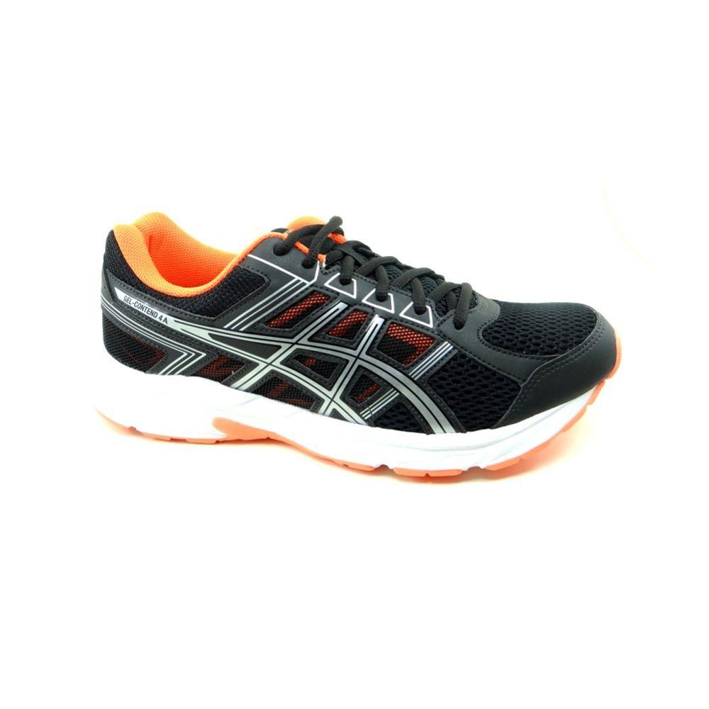 tênis masculino asics gel-contend 4 preto laranja - t026a. Carregando zoom. 54e63eb428c0e