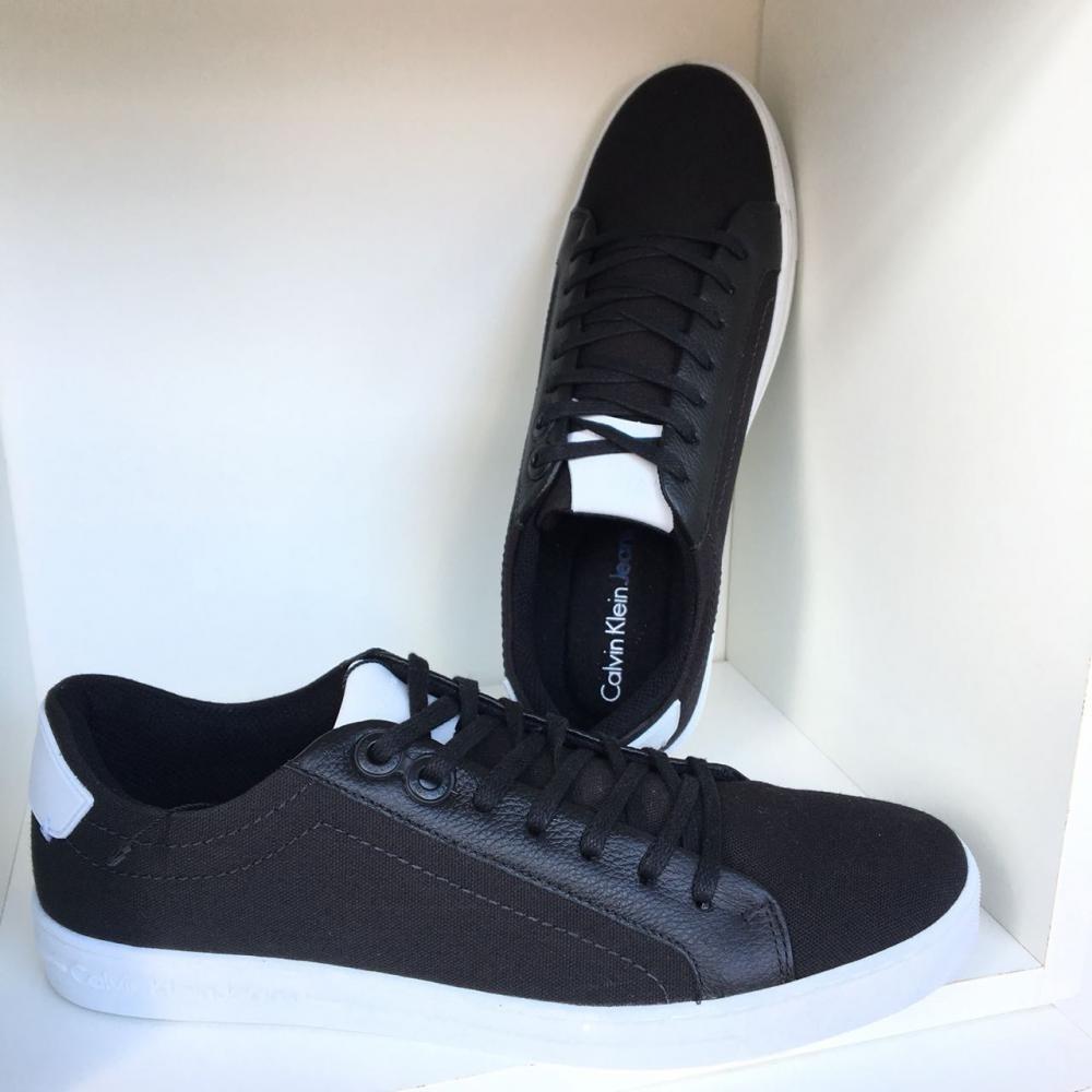 Tênis Masculino Calvin Klein Riscado Preto - R  299,00 em Mercado Livre 6580df87b8
