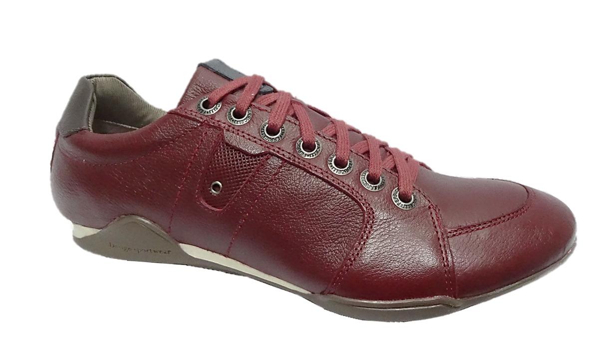 62ca9a9643 tênis masculino couro ferricelli vermelho frete off 004143. Carregando zoom.