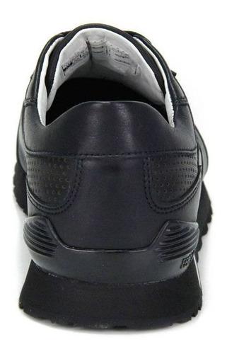 tênis masculino ferracini new bold - preto original c/nota