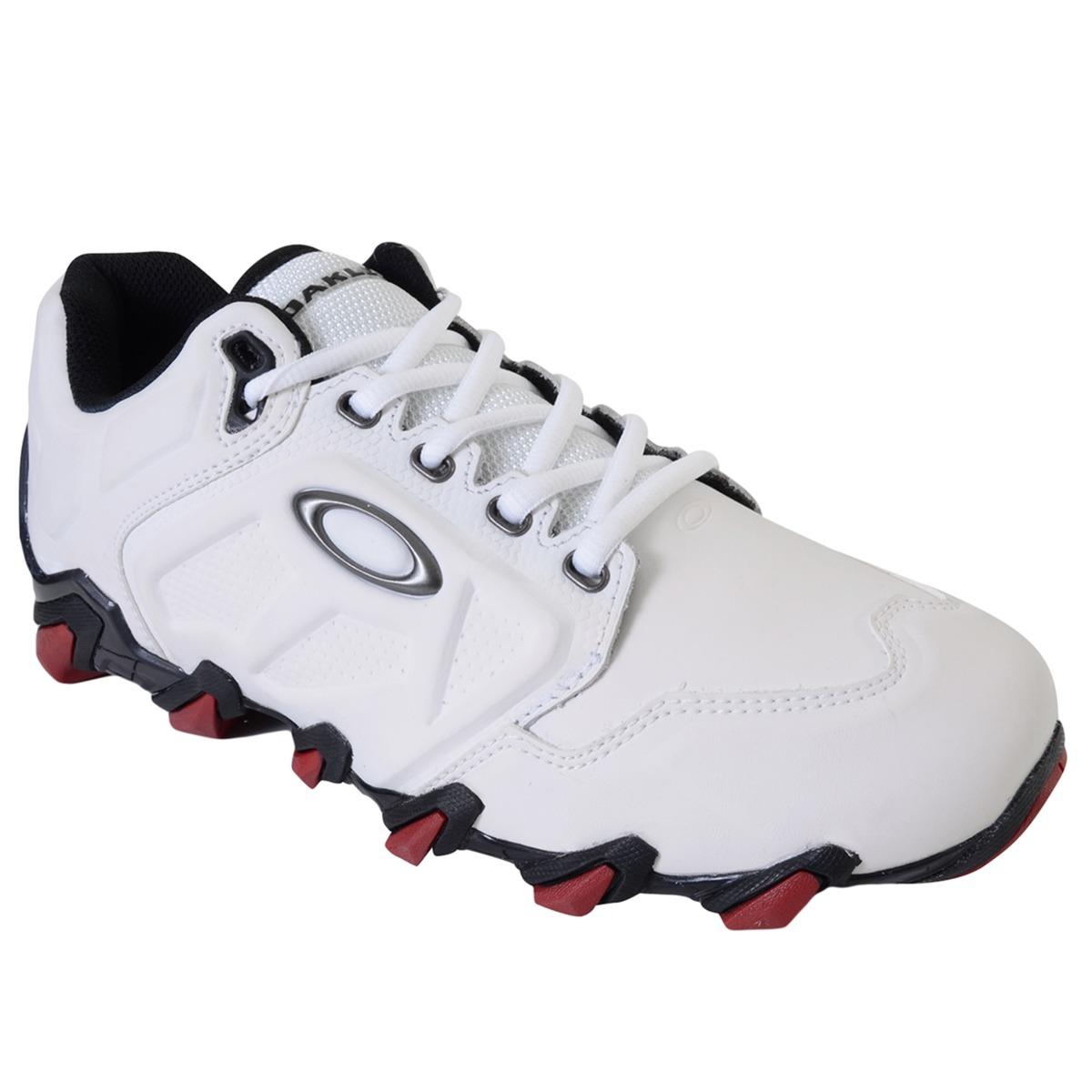 7ec3d331cfa tênis masculino oakley teeth 4 branco vermelho. Carregando zoom.