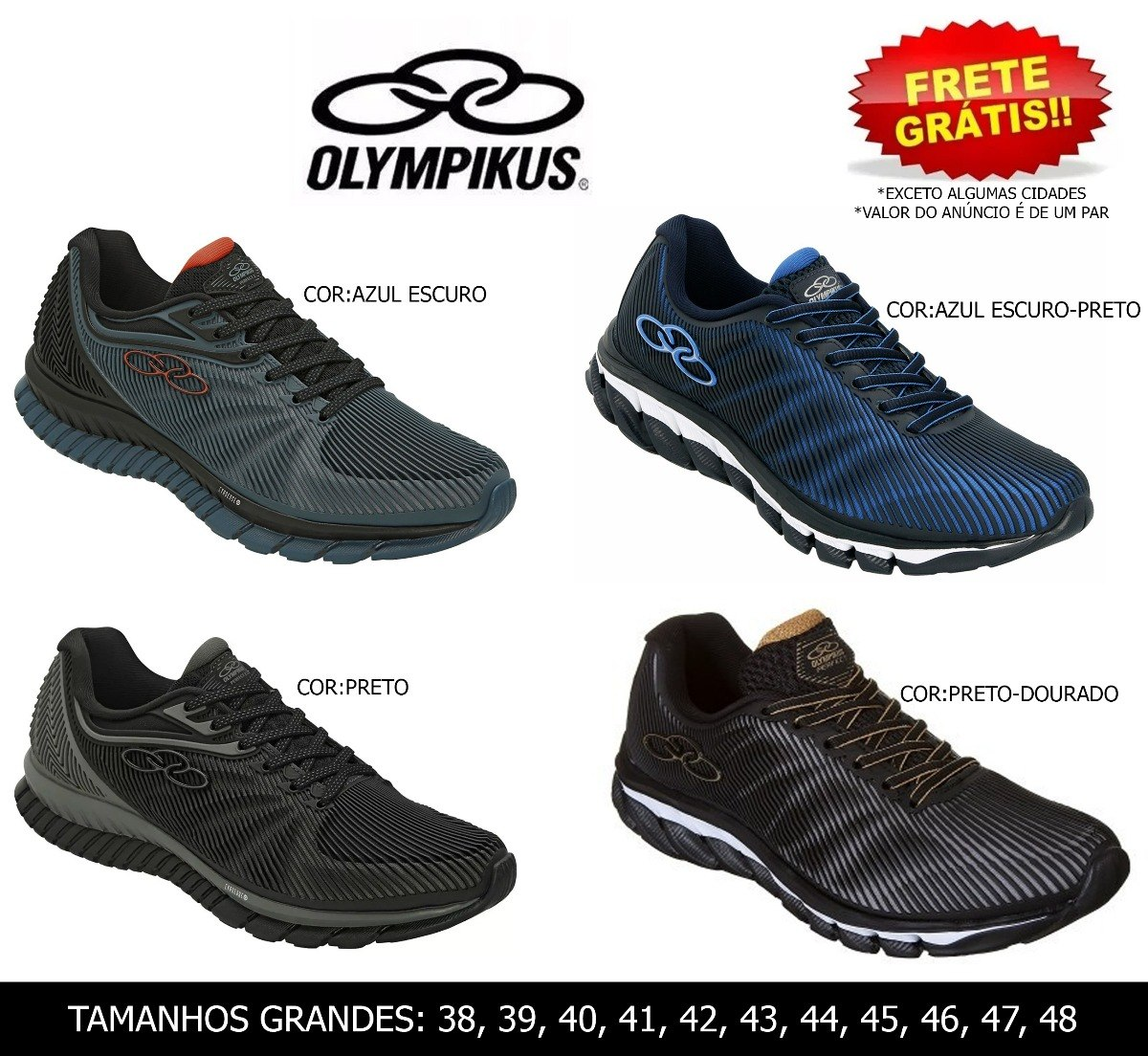 1db760c0 Tênis Masculino Olympikus Perfect 2 Original Do 38-48 - R$ 198,49 em ...