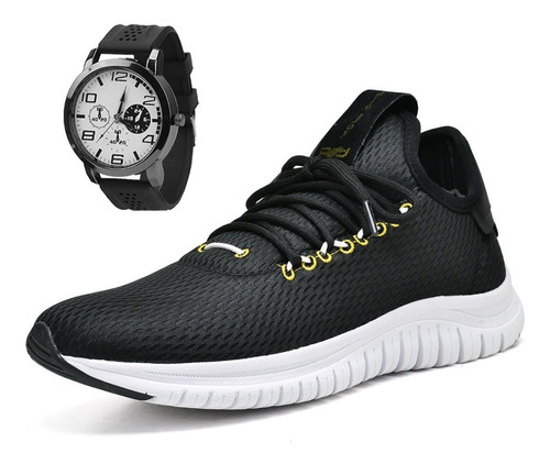 tênis masculino polo joy sport caminhada c/ relógio