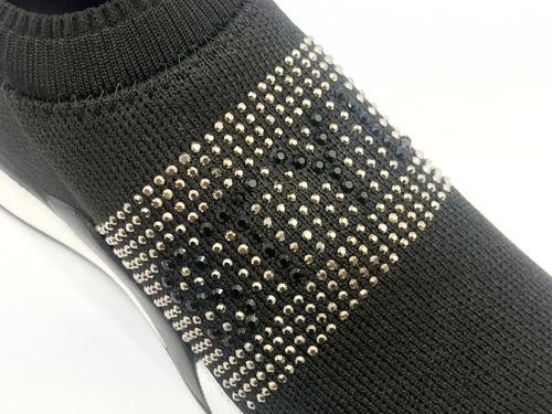 tênis meia tricot preto