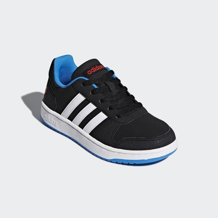 d73c6b9d855 tênis menino adidas hoops 2.0 k infantil preto azul. Carregando zoom.