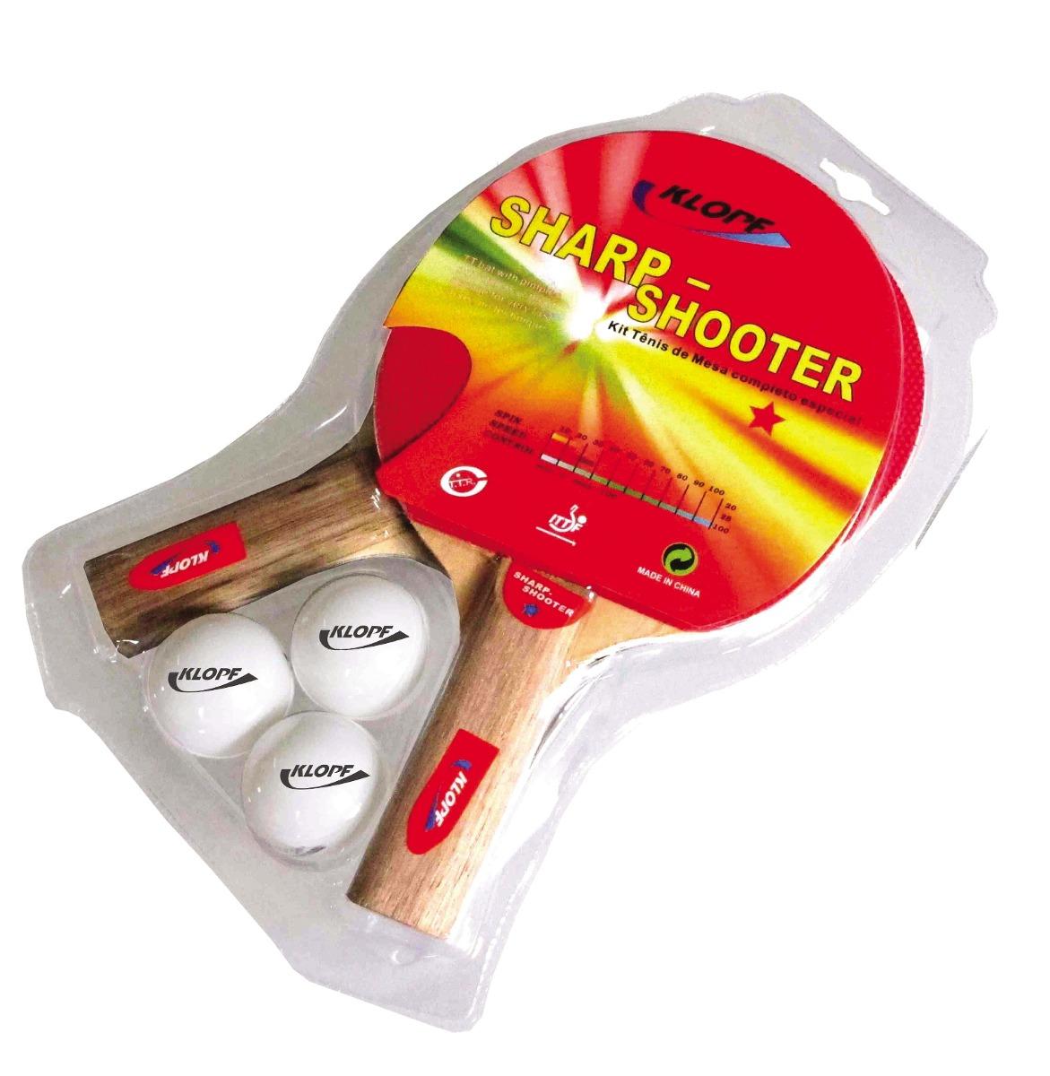 a9a479500 Kit Ping Pong Tênis Mesa Raquetes Rede Bolinhas Klopf  5030 - R  74 ...