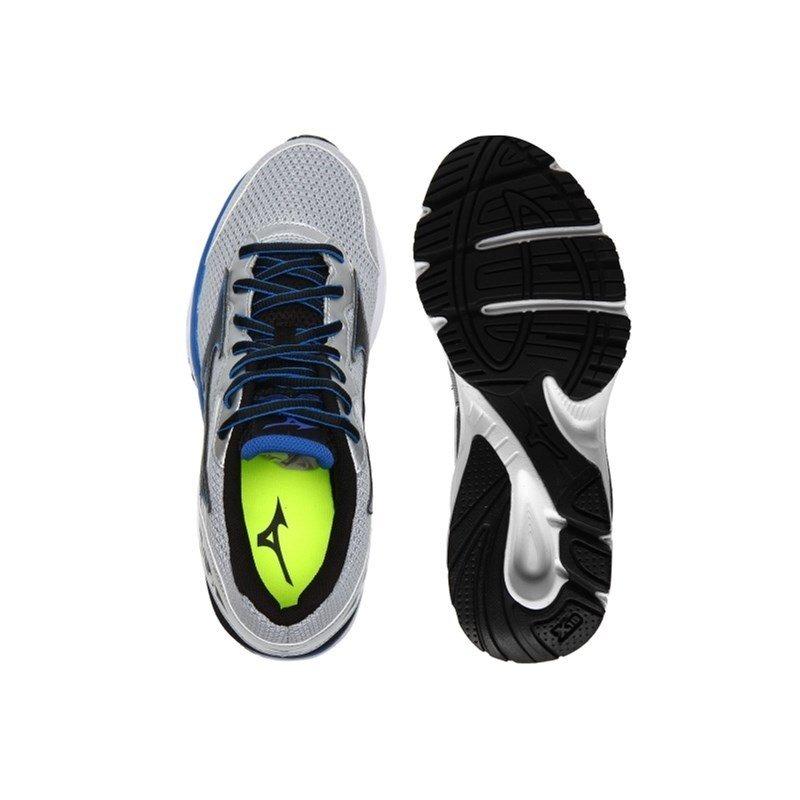 80a83776d9 tênis mizuno brave n masculino prata e azul. Carregando zoom.