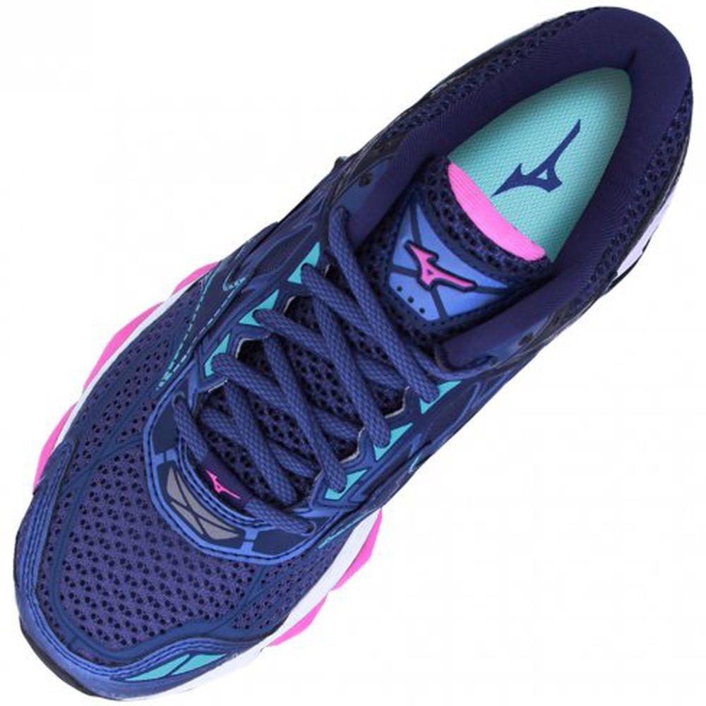 c319479c9ade6 Tênis Mizuno Wave Creation 19 - Feminino - Azul/rosa - R$ 725,00 em ...