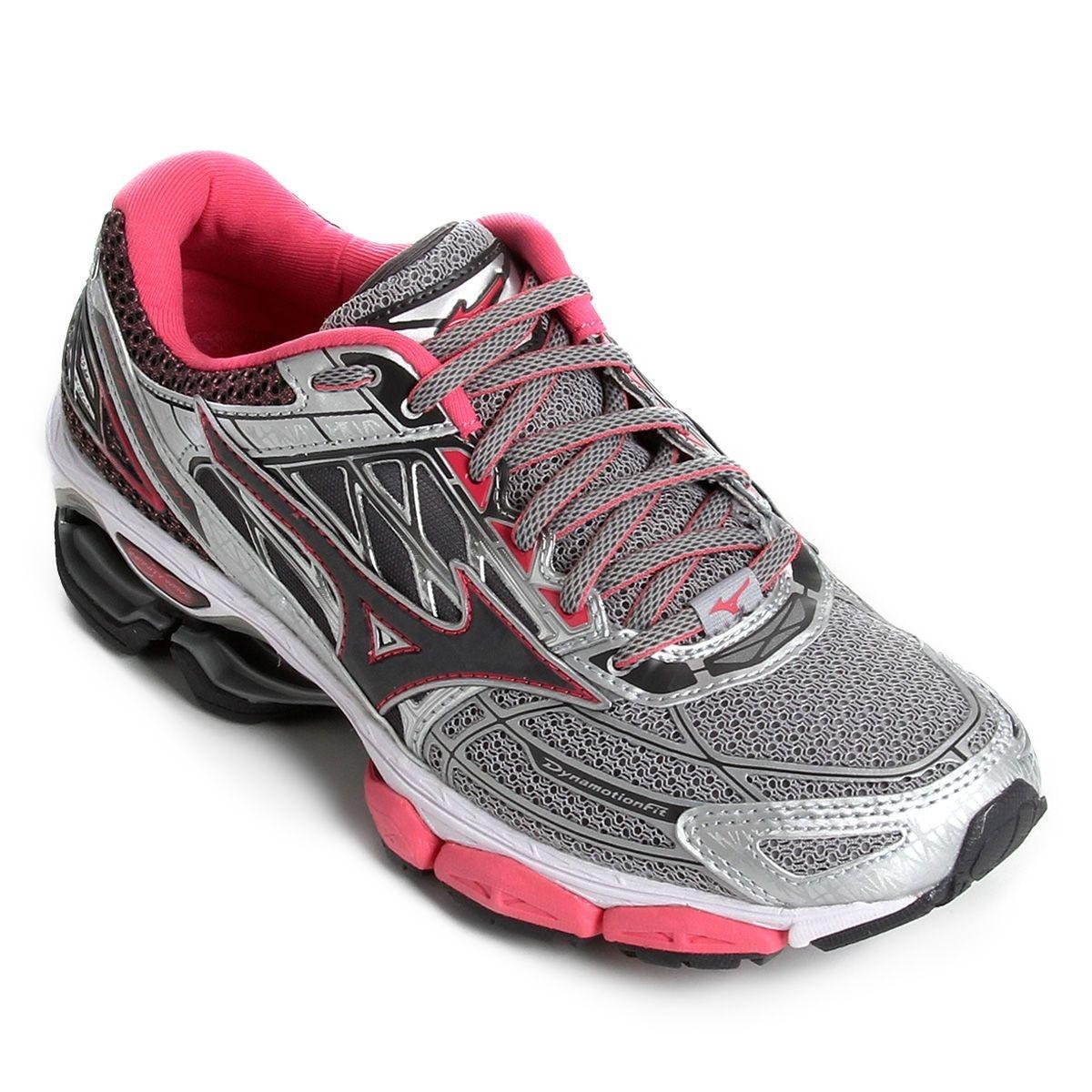 bec185a15731a tênis mizuno wave creation 19 feminino - prata e rosa. Carregando zoom.