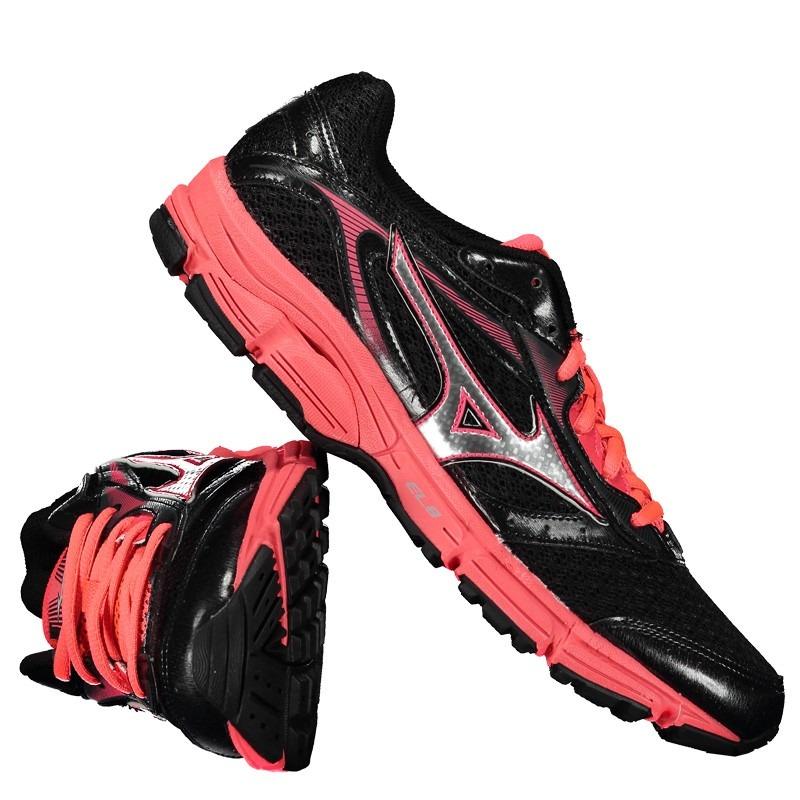 tênis mizuno wave impetus 4 feminino preto e rosa. Carregando zoom. ebeeb4a9de652