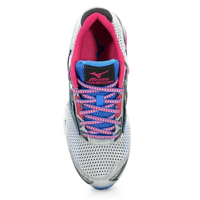 454c60bac6 tênis mizuno wave legend 4 prata rosa azul - 4136530-3050. Carregando zoom.