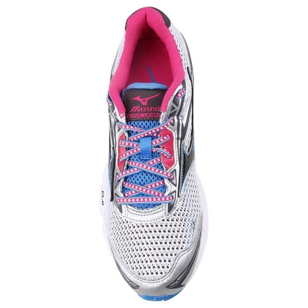 9bd2d91da3437 tênis mizuno wave legend 4 prata rosa azul. Carregando zoom.