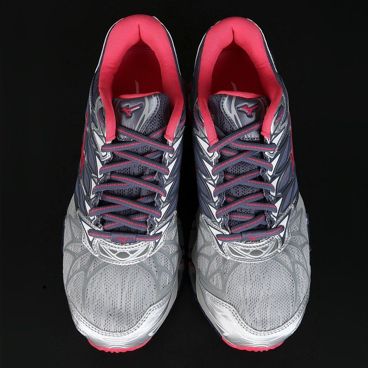 d87a6ce6cc tênis mizuno wave prophecy 7 feminino - grafite e rosa. Carregando zoom.